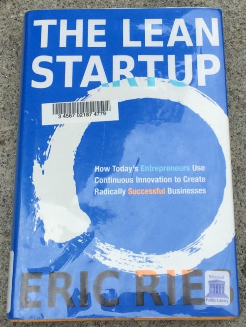 "front cover of ""the lean startup"" by Eric Ries"