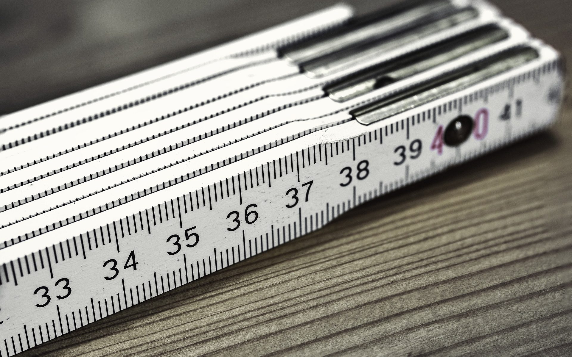 A picture of a folding ruler, which I'm using as a metaphor for surveys as a measurement tool